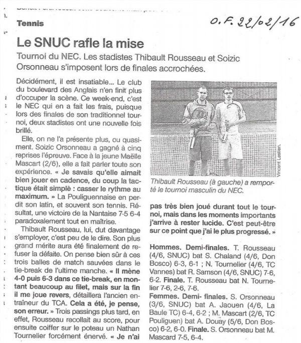 Open de Tennis – 2016